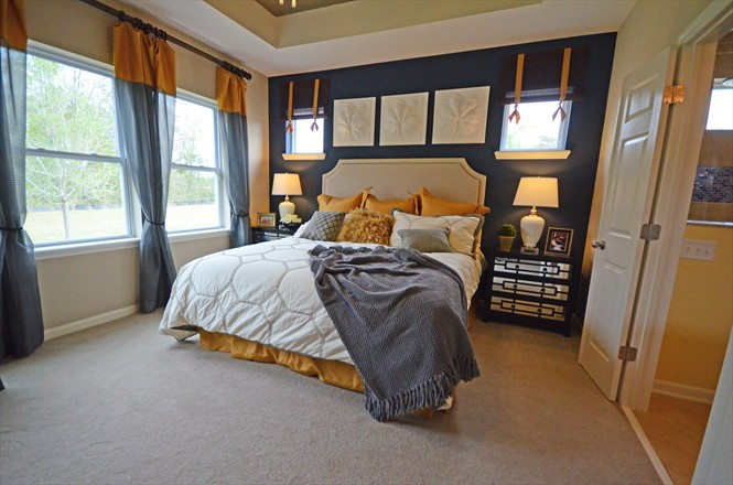 Rivertown David Weekley Homes - The Evandale, Master Bedroom