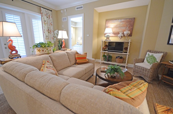Valencia Condo at Jacksonville Beach FL - Cordova Living Room