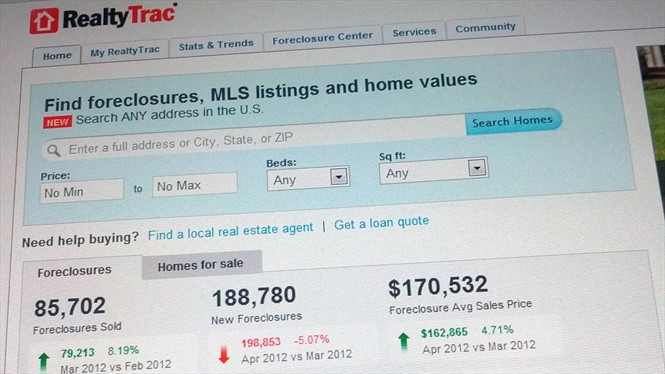 RealtyTrac Foreclosures Sales First Quarter 2012