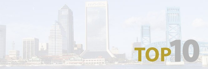 Jacksonville on Top Ten lists