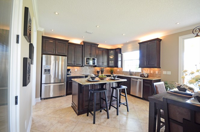 Cedar Bay Mattamy Homes Model Kitchen Northside Jacksonville FL