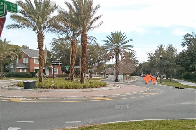 San Marco Streetscape Update - Completed Roundabout