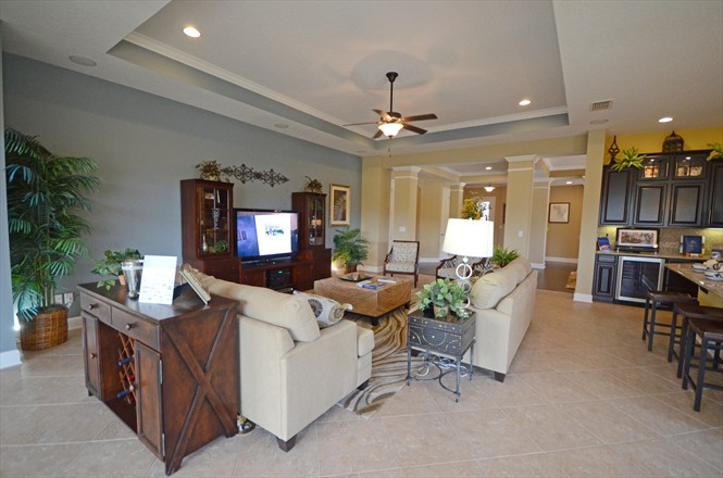 Willowcove at Nocatee David Weekley Model Home Tour - Family Room