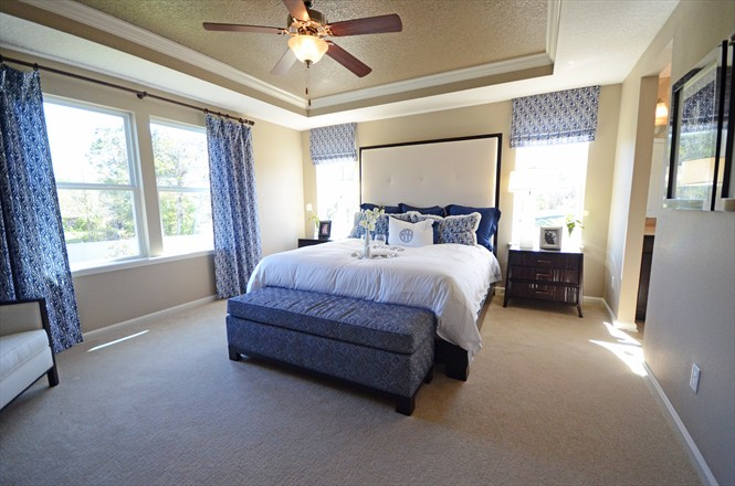 Silverthorn New Homes Community Dillon Model - Master Bedroom