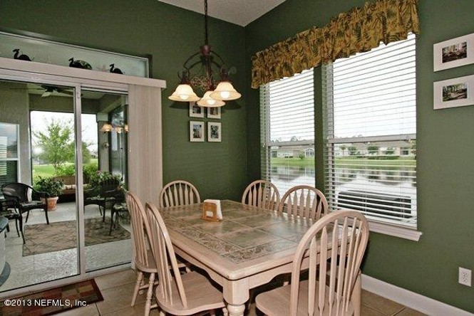 You can enjoy lakefront views right from the casual kitchen dining area.