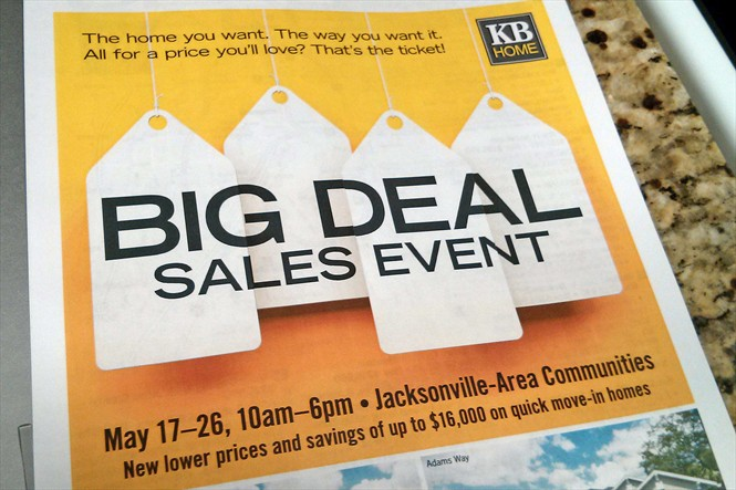 KB Homes Big Deal Sales Event - New Homes Savings in Jacksonville Area