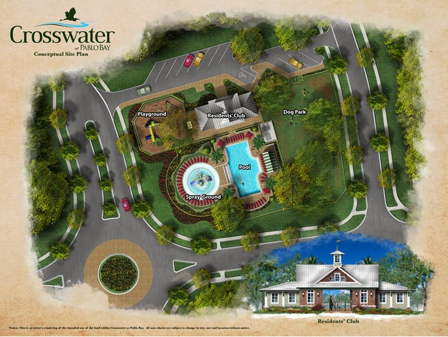 Crosswater at Pablo Bay - Amenities Center Conceptual Site Plan