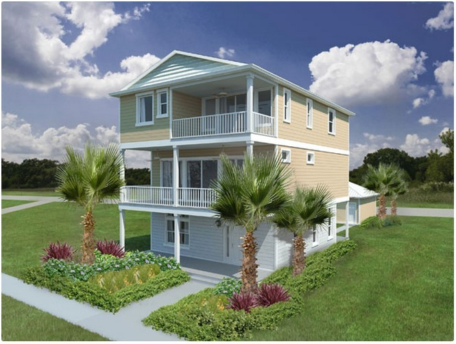Rendering of a new home at Cottages at Jax Beach