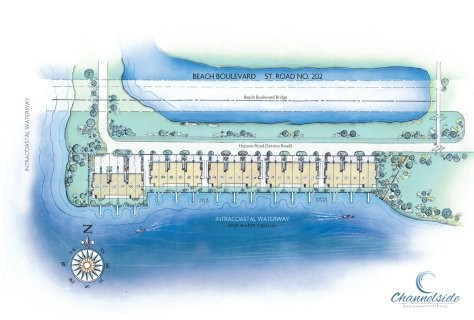Site Plan, Channelside on the Intracoastal