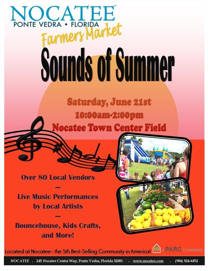 Sounds of Summer this weekend at Nocatee.