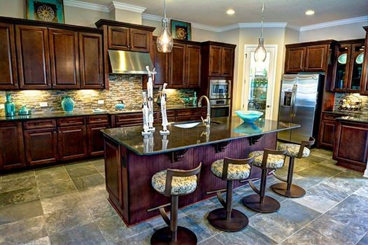 These gourment kitchens at Tamaya show how you can do old Mediterranean style in today's high-tech home