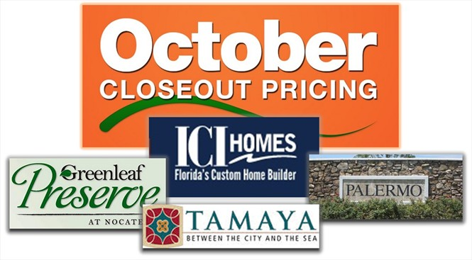 Buy by October 31, close by December 19 on the selected homes in these communities.