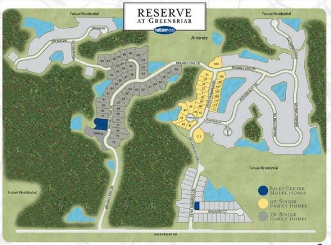 Mattamy is opening up for lot sales at The Reserve at Greenbriar in St. Johns County.