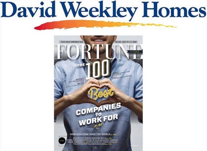 David Weekley can boast that it's a great place to work.