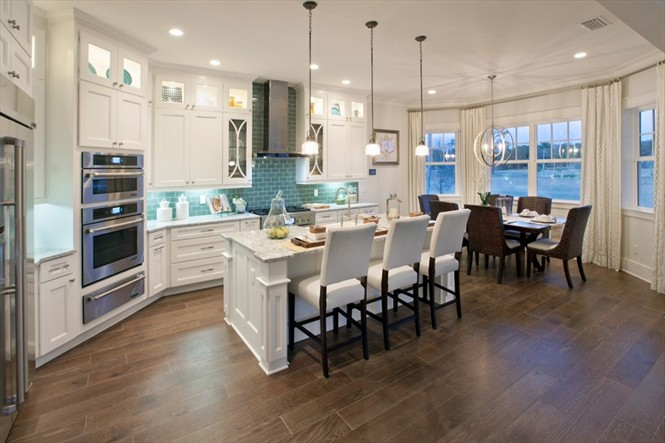 Gourmet high-end features are a trademark of Toll Brothers Homes.