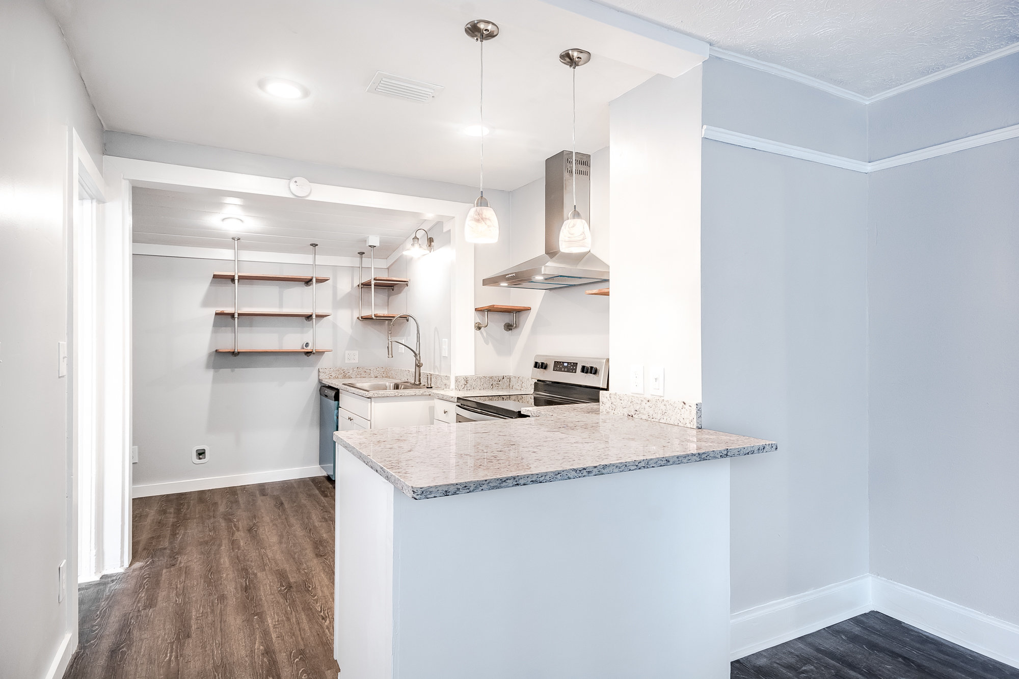 Updated kitchen with neutral colors in Murray Hill home for sale