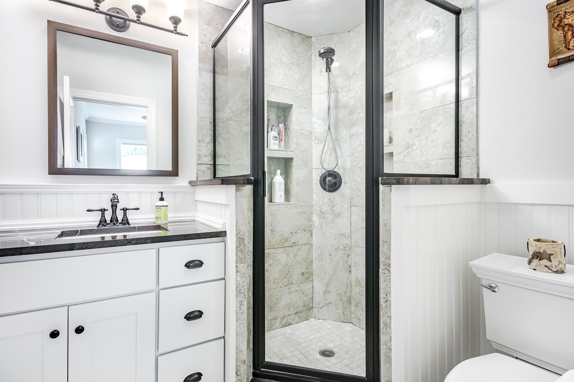 Master bathroom with stand-up shower